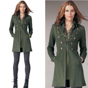 CAbi Cavilleri Military Green Long Coat Medium 587